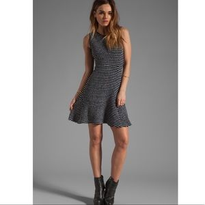 Theory Stripe Nikay fit and flare dress